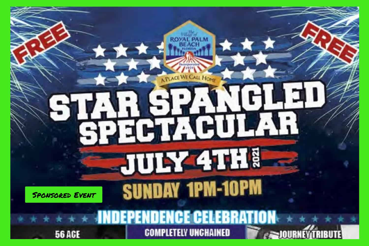 Star Spangled Spectacular July 4 at Commons Park